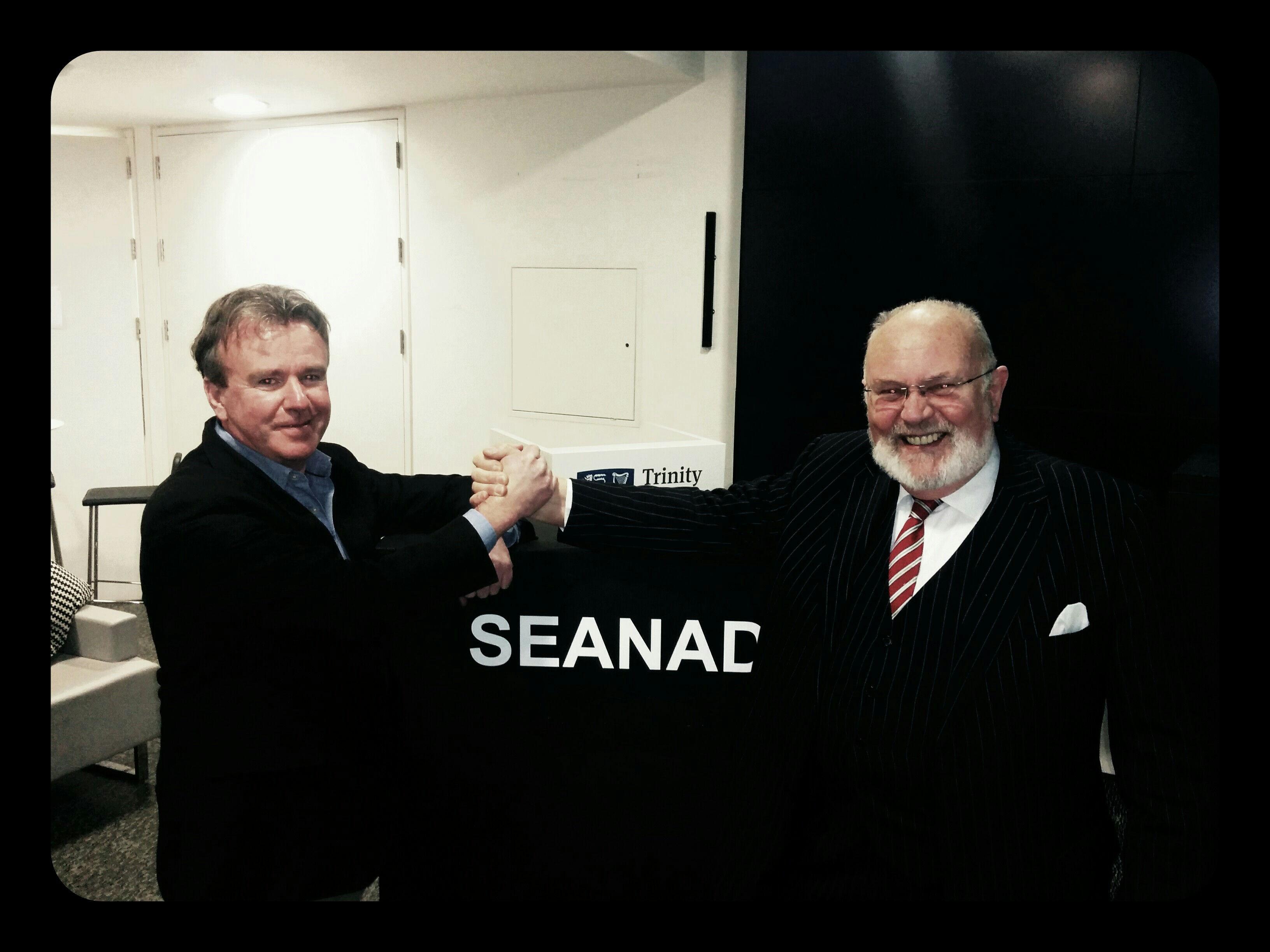 Tom Clonan and Senator David Norris